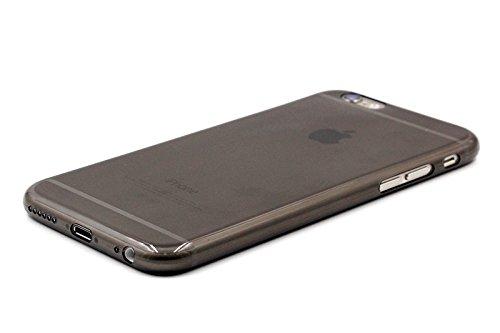 Bluecase iPhone 6 6s Plus 5,5 Zoll (nicht iPhone 6/6s 4,7 Zoll) klare dünne Hülle TPU Case Schutzhülle Silikon Case Klar Durchsichtig schwarz durchsichtig