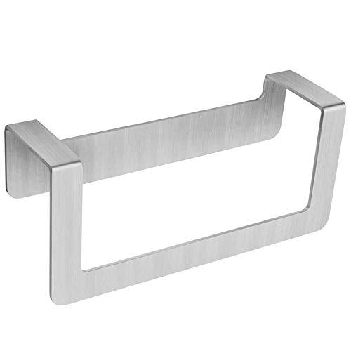 WEISSENSTEIN Toallero de baño Adhesivo | Porta Toallas de Pared de Acero Inoxidable sin Taladro | Medidas: 22 x 7 x 10 cm