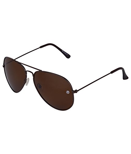 MarkQues Polarized Aviator Sunglasses (Brown) (PLR-550202)