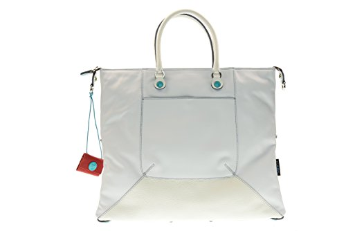 GABS donna borsa a mano G3-E17 MOMU PIATTA TRASFORMABILE 1000 L Bianco