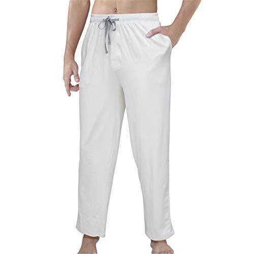 Preisvergleich Produktbild Swallowuk Herren Schlafanzughose Lang Hose Unterwäsche Casual Hosen Nachtwäsche Pyjamahose mit Kordelzug und Taschen Schlafen Yoga Sport Freizeit Hosen (L