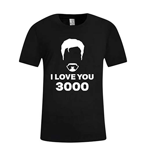 ♥ Herren Sommer Kurzarm Shirt Hemd Tops Eaylis Mit Vatertagsdruck Ich Liebe Dich Dreitausend Mal