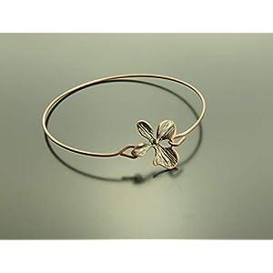 Armreifen Blume Blüte Armband antik kupferfarben Juvelato