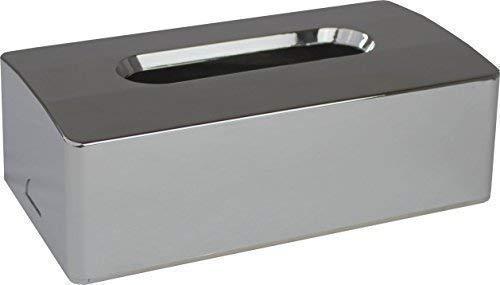 Kosmetiktuchbox 2- teilig verchromt 25,0 x 13,4 x 8,24 cm Kosmetikbox von Medi-Inn