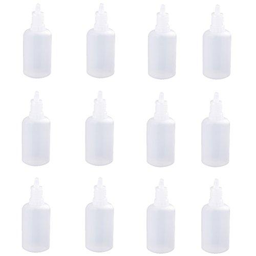 Hosaire 50 x 5 ml Leere Kunststoff Tropfflaschen,Dosierung von Flüssigkeiten,Augentropfen,Plastikflaschen Dropper Bottles Eye Liquid Tropfverschlüssen,Weiss