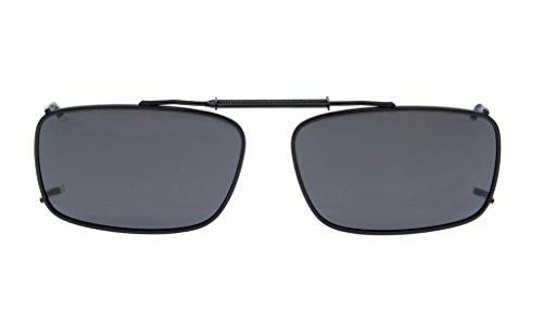 Eyekepper Metallrahmen-Rand polarisierte Objektiv-Klipp auf Sonnenbrille 54 * 34MM graues Objektiv