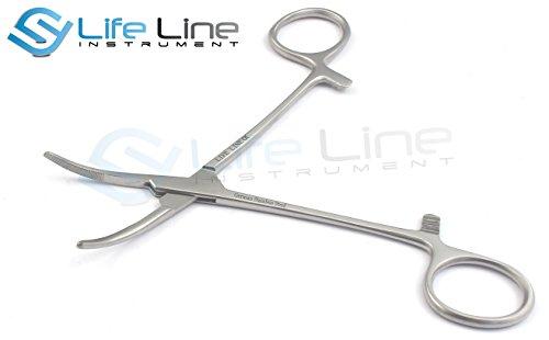 Lifeline Instruments® Pinzas Hemostáticas Kelly 14 Cm Curva Instrumentos De Acero Inoxidable