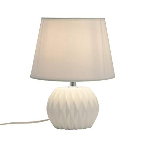 Lampe Digitale Blanche En Céramique Et Tissu