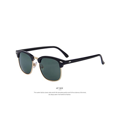 Vikimen Sportbrillen, Angeln Golfbrille,Men Retro Rivet Polarisiert Sunglasses Classic Brand Designer Unisex Polaroid Sunglasses UV400 C08 G15