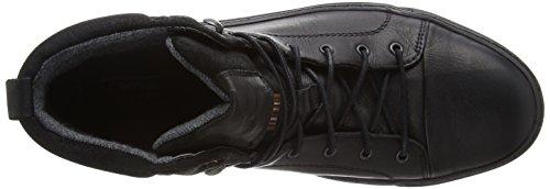 camel active Bowl 12 Herren Hohe Sneakers Schwarz (Black)