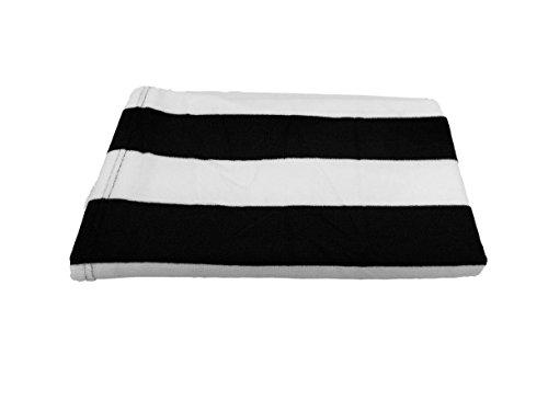 byLora Mikrofaser Strand Handtücher für Reisen-Quick Dry Handtuch für Schwimmer, Sand frei-76,2x 152,4cm-Strandtuch Handtücher für Kinder & Erwachsene, schwarz, Large - Qty 1 - Cabana Streifen Strand Handtuch