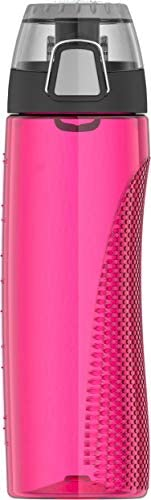 Thermos-Tritan Hydration Bottle with rotating intake meter- Ultra Pink 710 ml