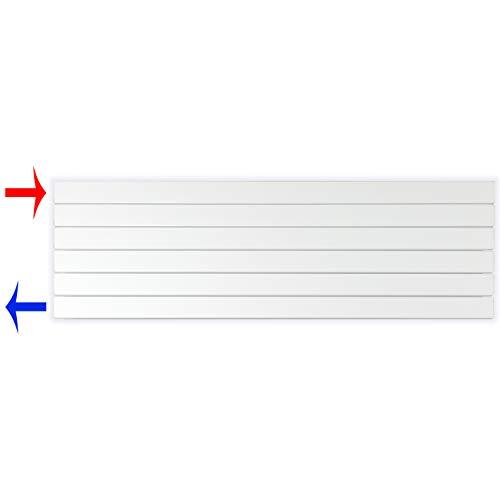 Design Paneelheizkörper Heizkörper Badheizkörper horizontal 450 x 1400 seitlicher Anschluss (703 Watt nach EN442)