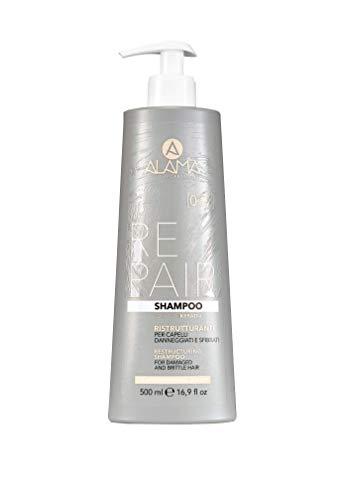 Scheda dettagliata Alama Professional Repair Restructuring Shampoo con cheratina per capelli danneggiati e fragili, 550 g