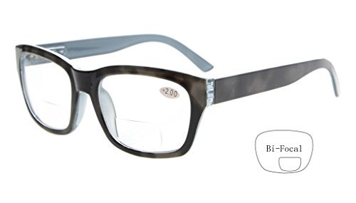 Eyekepper Polycarbonat groß Objektiv fast unsichtbare Linie Bifocal Brille Leser Männer Grey +2.0