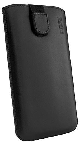 mumbi ECHT Ledertasche für Motorola Moto G 2. Generation Tasche Leder Etui (Lasche mit Rückzugfunktion Ausziehhilfe)
