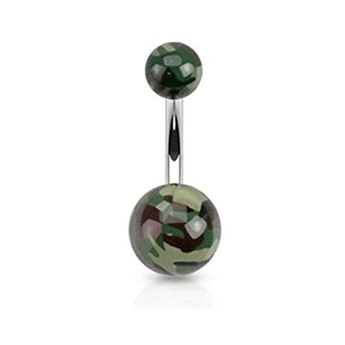 Camo Stil Acryl Bauch Ring -