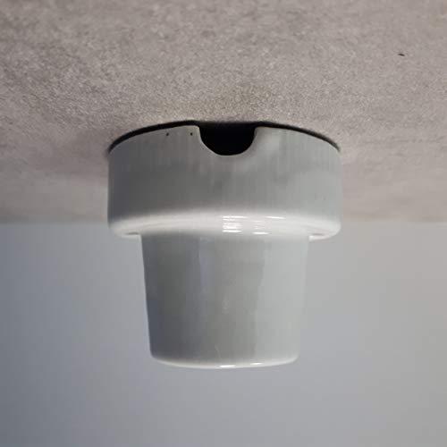 Aufbau E27 Porzellanfassung Keramik Lampe max. 1000W – z.B. für Terrarien - 5