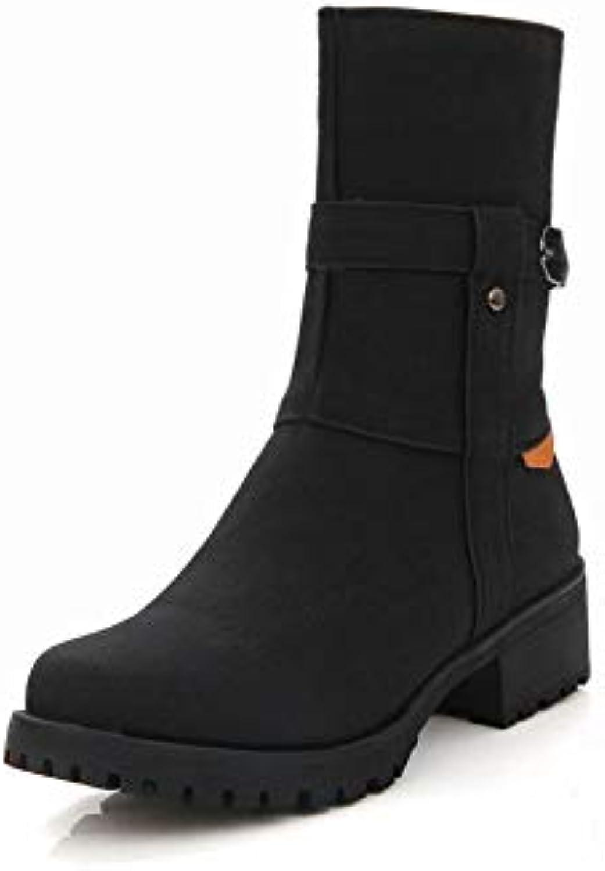 SED - Chaussures - SED Automne Et Hiver Épaisses avec Bottines/Bottes À Tête Ronde Martin/Bottes Plus Chaudes en Velours... 9e66be
