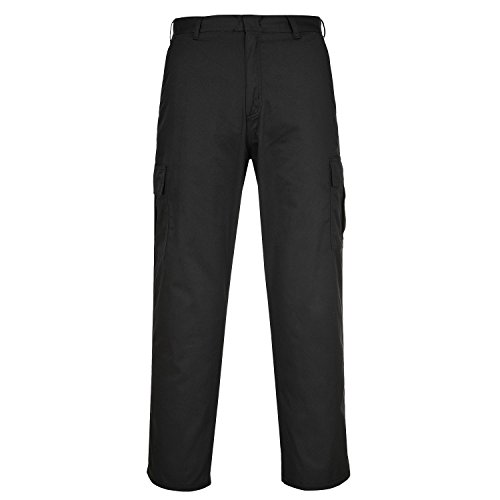 Portwest Combat Trousers Kingsmill Fabric Multiple-pockets Tall 40in Navy Ref C701TALLNAVY40