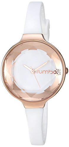 RumbaTime Women's 15642 Orchard Gem Mini Rose Gold 30mm Crystal White Watch