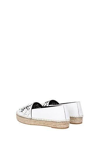 KCJ303CANS010 Christian Dior Espadrilles Femme Cuir Blanc Blanc