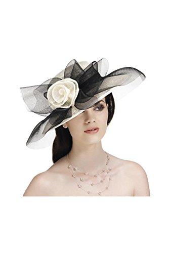 Chapeau de cocktail avec fleur Argent