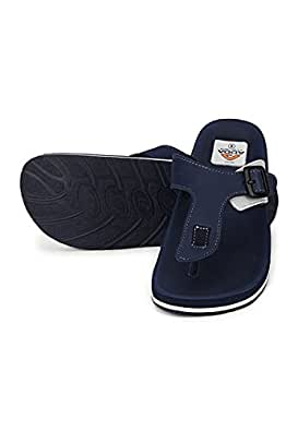 Adda Faux leather Navy Blue FlipFlop for Men (Size-7)