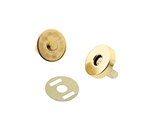 TFXWERWS Diy Accessories Gold Magnetic Snap Fasteners Clasps Handbag Bags Buttons 18x14mm