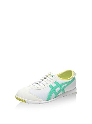 Onitsuka Tiger Damen Rio Runner Sneaker, Weiß/Grün, 39 EU (Rio Runner)