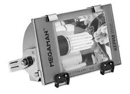 Megaman Keppa. Außenstrahler. IP65. Enthält Kompaktleuchtstofflampe Megaman Clusterlite 220v 60w 4000k e27....