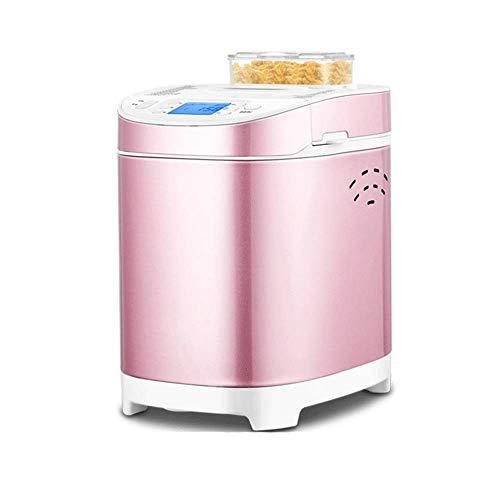 Digital Bread Maker con dispensador automático de ingredientes: 18 funciones predefinidas de 550W, que incluyen masa libre de gluten y masa fermentada, mermelada y yogures, pan antiadherente, temporizador de retardo y función de mantener caliente