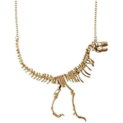 Más Querida Dinosaur Vintage collar corto cuello