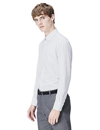 Find., regular fit formal, uomo, camicia formale, bianco (white 100), medium