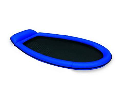 Lively Moments Edle Luftmatratze als Wasserhängematte / Luftbett mit Netz / air Mattress Lounge in blau 178 cm Luftmatratze