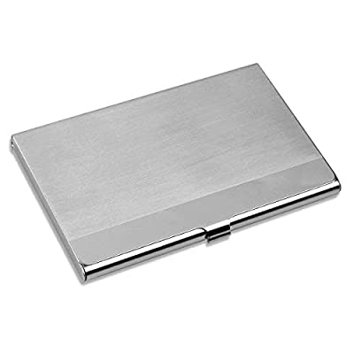 VIPITH Super Light Business Card Holder Professional Stainless Steel Business Name Card Case Keep Business Cards in Immaculate Condition Slim Design for Men and Women, for Travel and Work, Silver : everything five pounds (or less!)