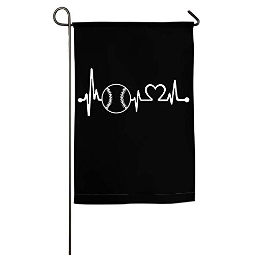 Joe Kiya Softball Heartbeat Garden Holiday Double Sided Flag Außenwanddekoration (Empfohlene Brise) -