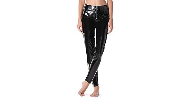 dd2e6ba8076d9e Calzedonia Womens Vinyl zip leggings: Amazon.co.uk: Clothing