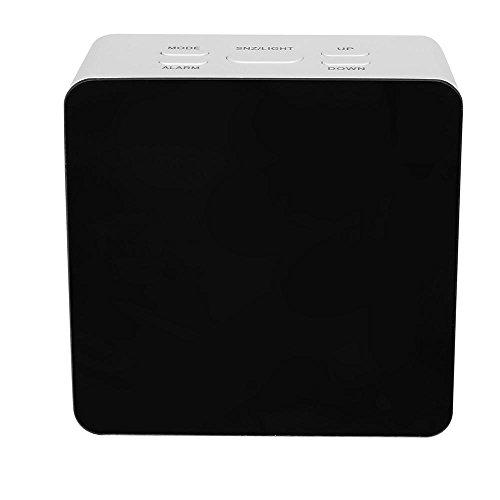 Doublehero LED Wecker Modern Multifunktion Elektronische Digitale elektronische Temperatur Snooze Clock Home Decor Spiegel Funktion (B) -