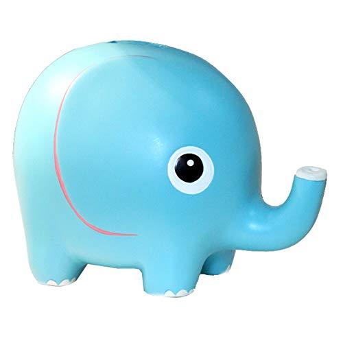 Elefante Del Banco De Moneda Resina Azul Del Ahorro Del Banco Guarro...