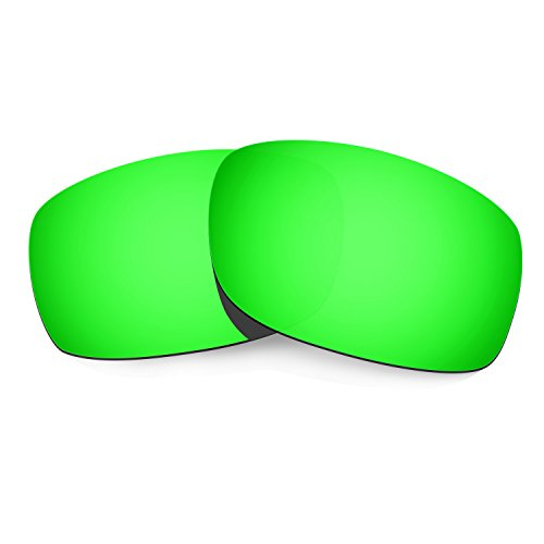 HKUCO Plus Mens Replacement Lenses For Oakley Fives Squared Sunglasses Emerald Green Polarized