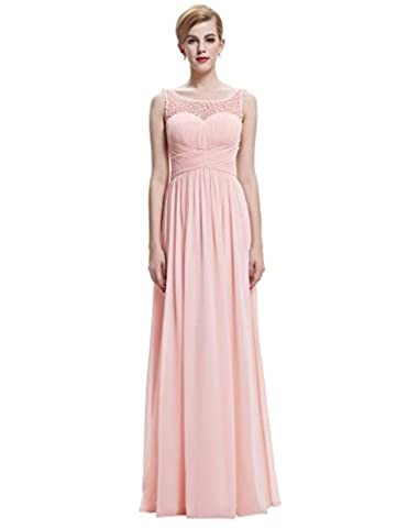 Belle Long Prom Dress Women's Sleeveless Formal 18 Pink(ST61-3)
