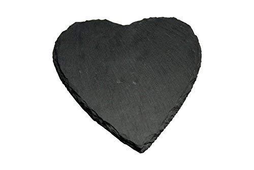 8pezzi set in ardesia sottobicchieri a forma di cuore circa diametro 10cm