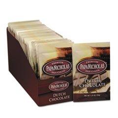 Papanicholas Coffee 79224 Premium Hot Cocoa, Niederl-ndisch Schokolade, 24-CT