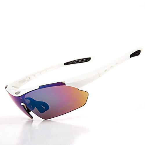 MaxAst Sonnenbrille Motorrad Brille Selbsttönend Unisex Schutzbrille Antibeschlag Weiß