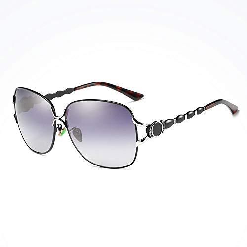 Rot Reisen Reiten Outdoor Sport Fahren Sonnenbrille Strand UV-Schutz UV400 Metallrahmen Ultra Light Unisex Herren/Damen Polarisierte Sonnenbrille Brille (Farbe : Black)
