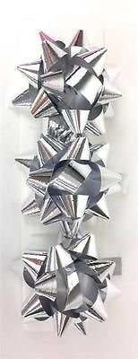 3PK Silber irisierend 3PK blau irisierend Mini Band Bögen Geschenkpapier Geschenk D