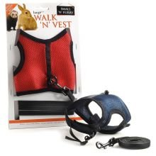 RABBITS AND FERRETS - WALK N VEST LARGE (Colors will vary) Test