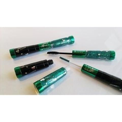 Double **Glitter** Mascara 2-in-1 in cinque differenti colorazioni Colore verde