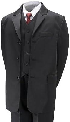 Aryan Wear - Traje de niño (5piezas), color negro